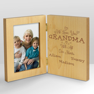 Personalized With All Our Heart Wood Frame L10152141