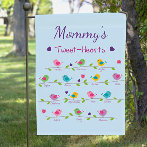 Personalized Tweet-Hearts Garden Flag