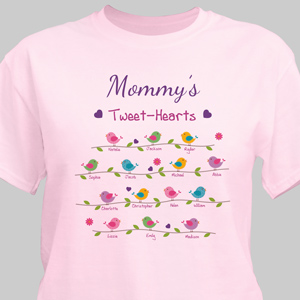 Personalized Tweet-Hearts T-shirt | Personalized Mom Shirts