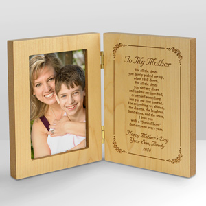 Personalized To My Mother Wood Frame | Mom Photo Frames