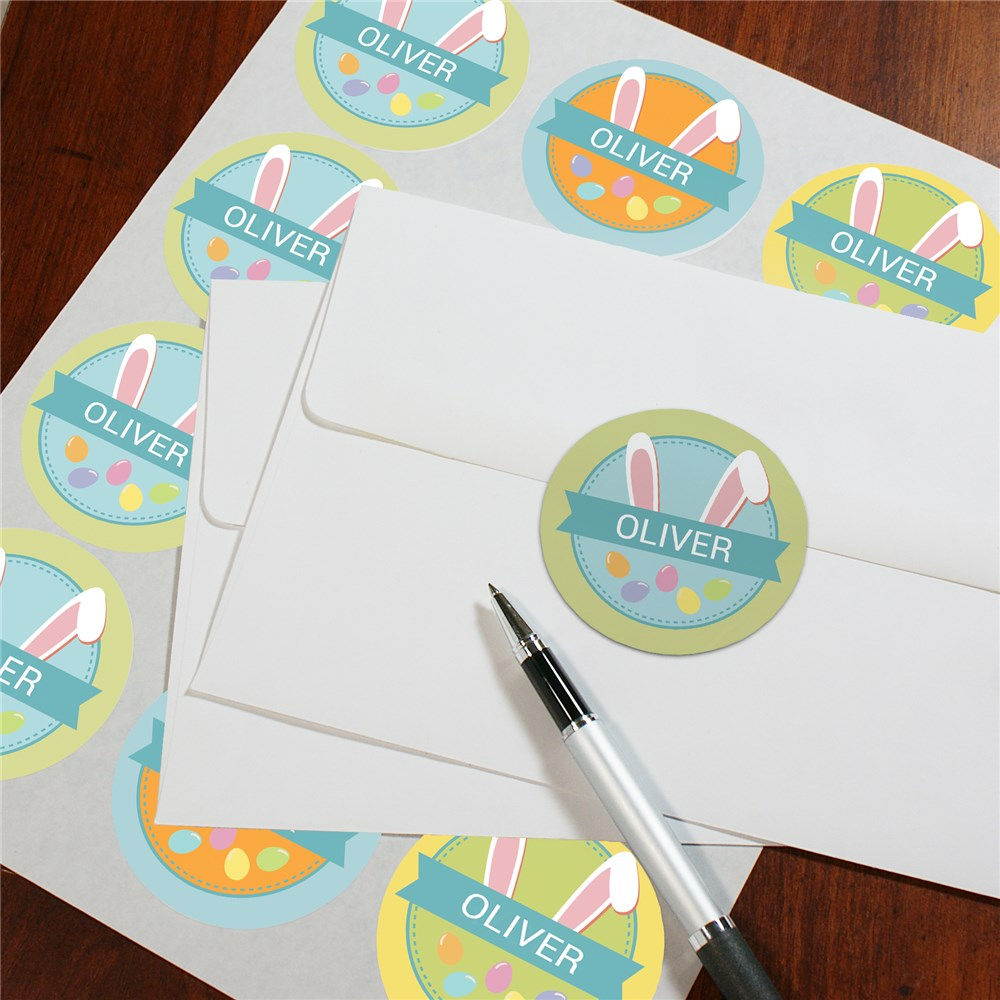 Personalized Easter Gift For Kids | Happy Easter Personalized Stickers