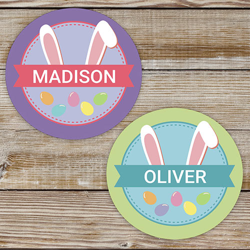 Bunny Ears Personalized Kids Stickers| Easter Gifts For Kids