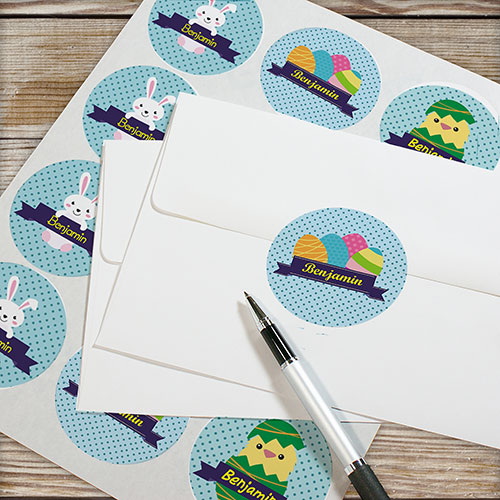 Kid's Personalized Easter Stickers | Easter Gifts For Kids