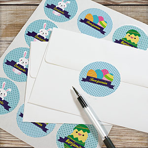 Personalized Kid's Easter Stickers