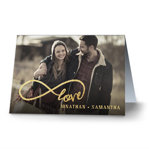 Personalized Carved Initial Cards | Personalized Valentines Cards