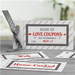 Personalized Love Coupon Book For Him | Personalized Valentine's Day Gifts