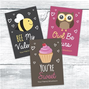 Personalized Be Mine Card Set | Valentines Day Gifts For Kids
