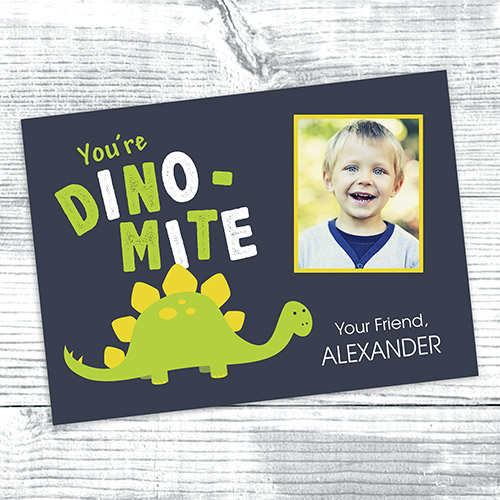 Personalized Dino-Mite Card | Valentines Day Gifts For Kids