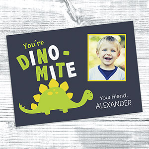Personalized Dino-Mite Cards