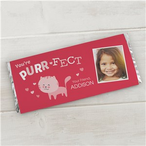Personalized Purr-Fect Candy Bar Wrapper | Personalized Valentines Day Gifts For Kids
