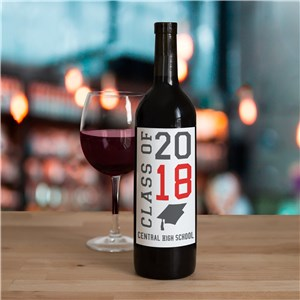 Peronalized Class Of Wine Bottle Label | Graduation Gifts