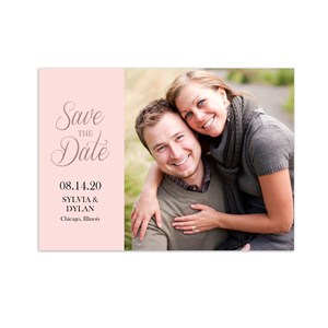 Personalized Rose Gold Photo Save the Date 11039710X