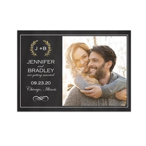 Personalized Wreath Photo Save the Date 11039810X