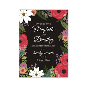 Personalized Wedding Floral Save the Date 11040010X