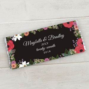 Personalized Wedding Floral Candy Bar Wrappers