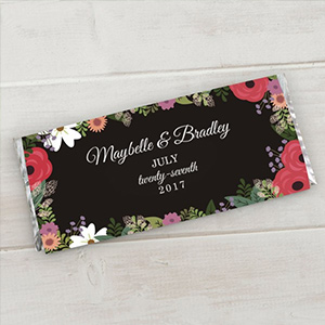 Personalized Wedding Floral Candy Bar Wrappers 11040015X
