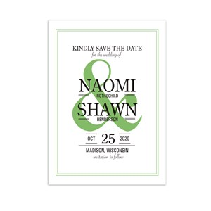 Personalized Ampersand Save the Date 11040110X