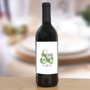 Personalized Ampersand Wedding Wine Bottle Labels