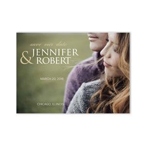 Personalized Photo Save our Date Cards 11045210X