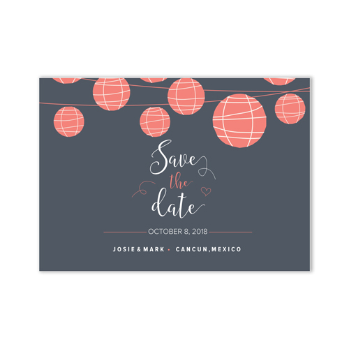 Personalized Lantern Save the Date Cards 11045310X