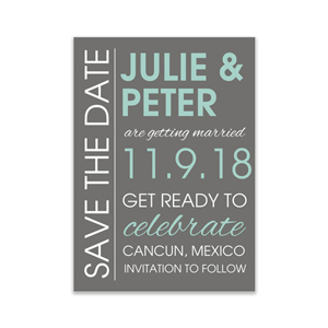 Personalized Get Ready to Celebrate Save the Date Cards 11045410X