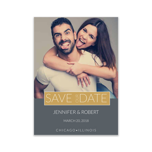 Personalized Save our Date Photo Card 11045510X