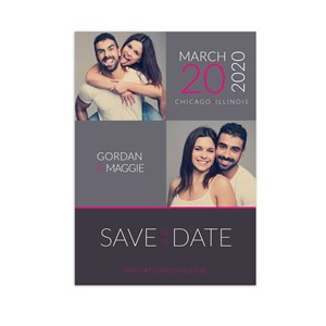 Personalized Photo Collage Save the Date Cards 11045610X