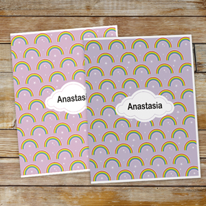Personalized Rainbow Folder Set