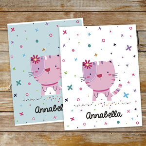Personalized XoXo Cat Folder Set U1048020