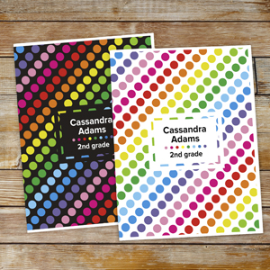 Personalized Polka Dot Folder Set