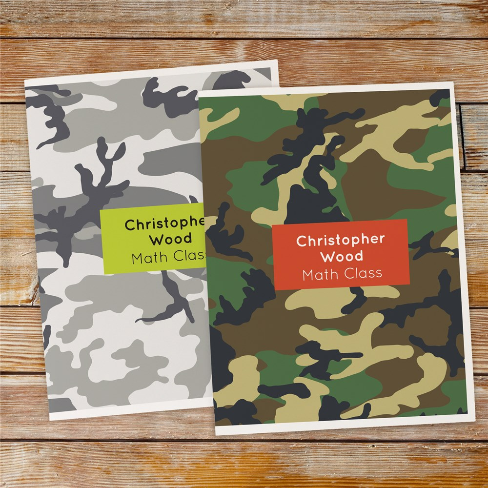 Personalized Camo Folder Set 11048220