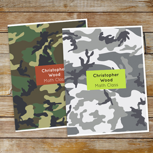 Personalized Camo Folder Set