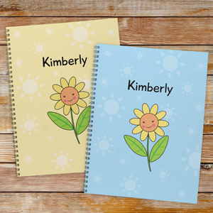 Personalized Flower Notebook - Set of 2