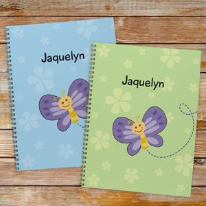 Personalized Butterfly Notebook - Set of 2