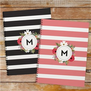 Personalized Floral Initial Notebook 11049921
