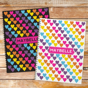 Personalized Hearts Notebook - Set of 2