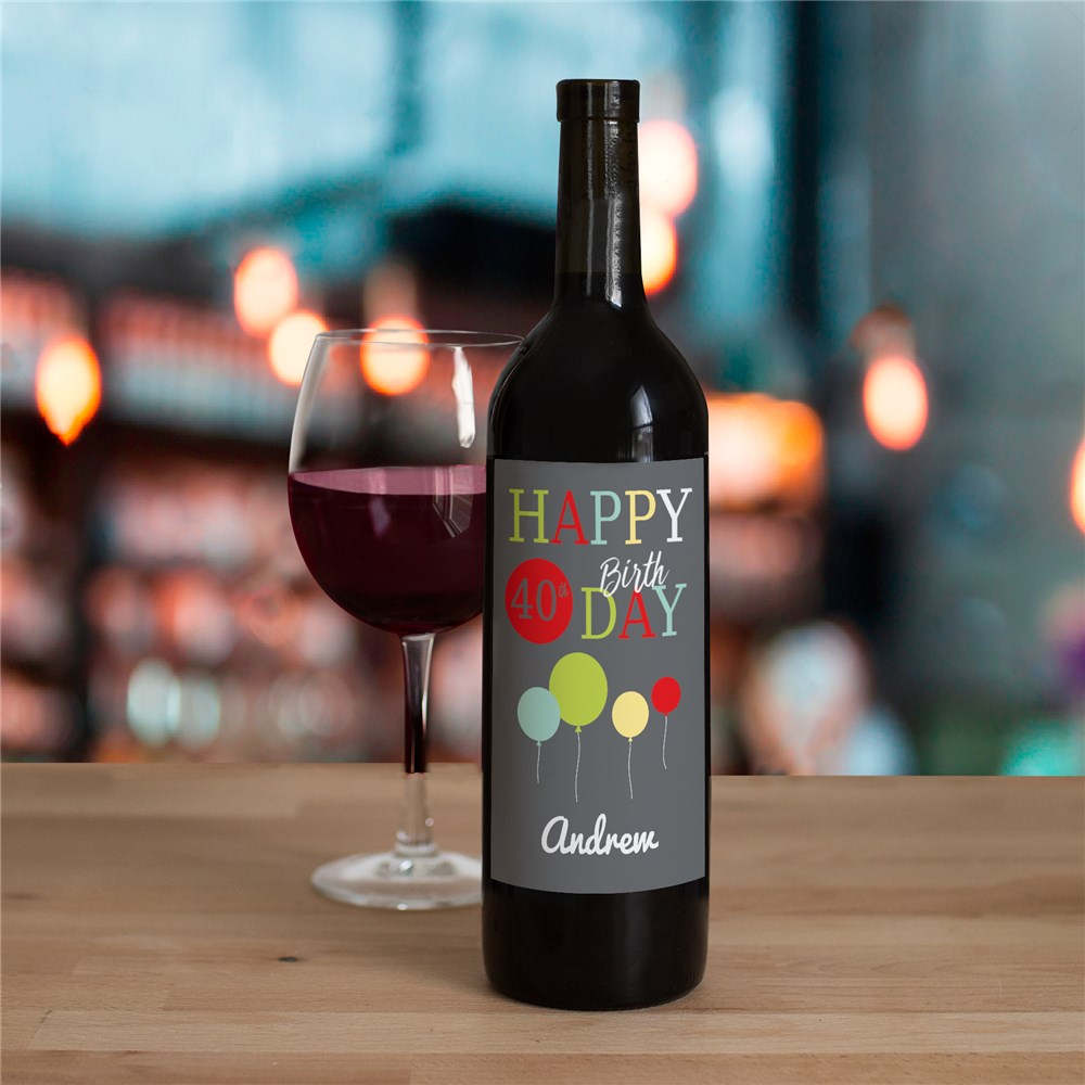 Birthday Wine Bottle Labels 11050111X