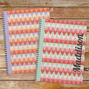 Personalized Zig Zag Notebook-Set of 2