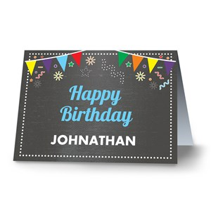 Personalized Chalkboard Birthday Greeting Card 11052310