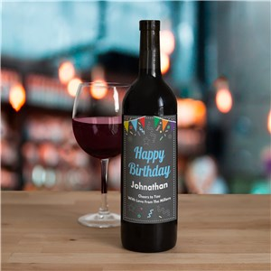 Personalized Chalkboard Birthday Wine Bottle Labels 11052311X
