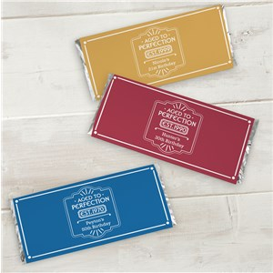Personalized Aged to Perfection Candy Bar Wrappers 11052615X