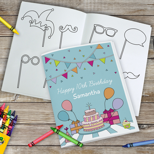 Personalized Happy Birthday Coloring Book 11052716