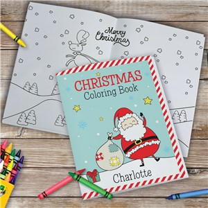 Personalized Christmas Coloring Book | Personalized Coloring Books