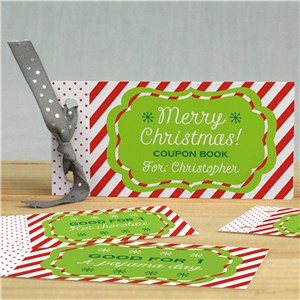 Personalized Christmas Coupon Book | Personalized Coupon Book
