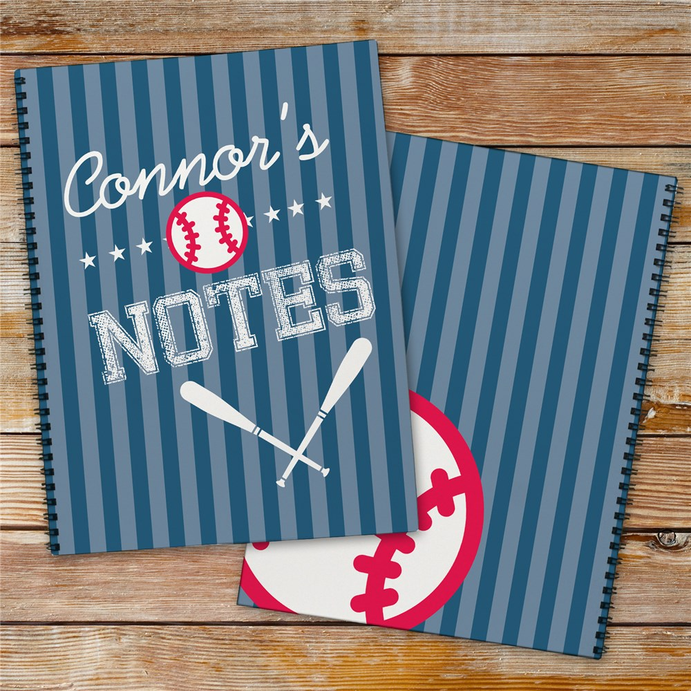 Personalized Baseball Notebook Set | Personalized School Supplies