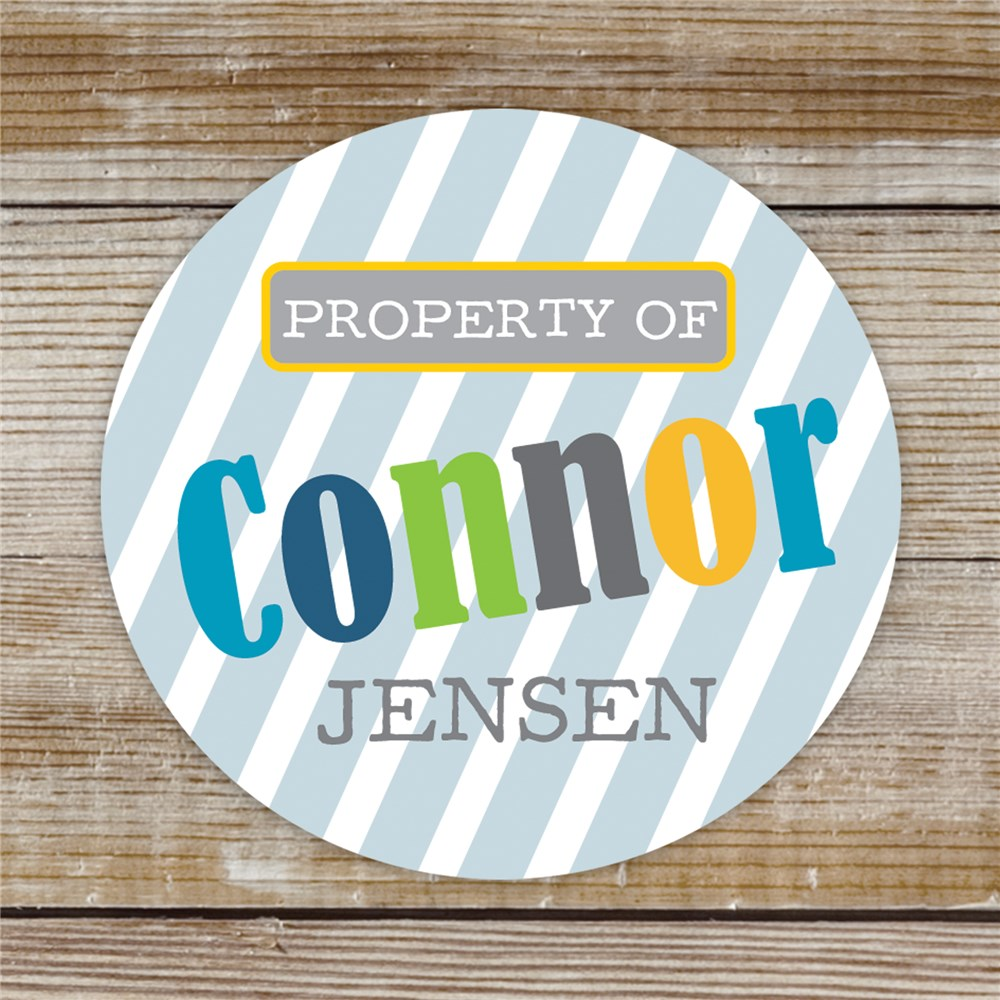 Personalized Property of Stickers for Boys | Personalized Name Stickers