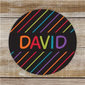 Personalized Stripe Kids Stickers | Personalized School Supplies