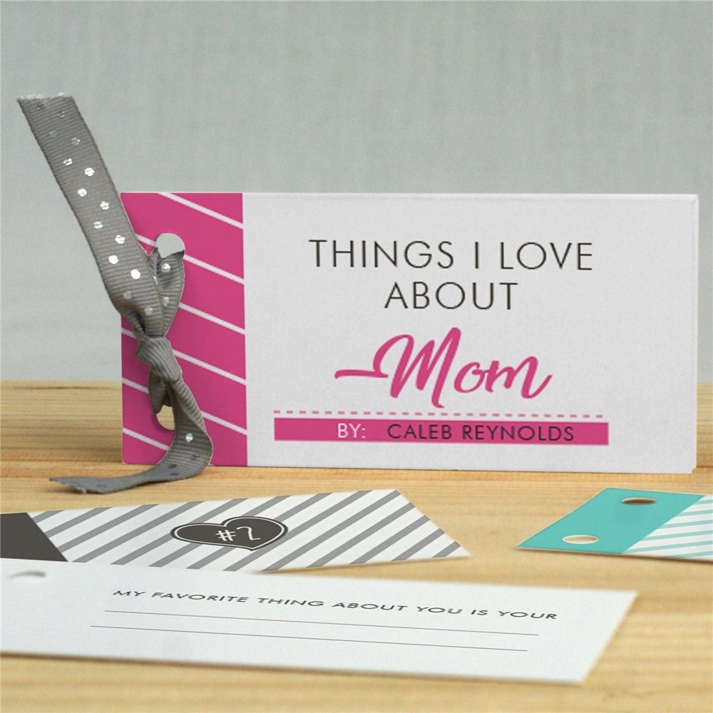Personalized Things I Love About Mom Coupon Book | Unique Mother's Day Gifts