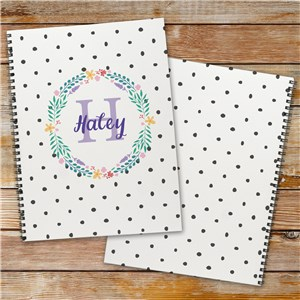 Personalized Polka Dot Notebook Set of 2 | Personalized Notebooks For Kids
