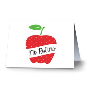 Personalized Polka Dot Note Card | Personalized Note Cards For Teachers